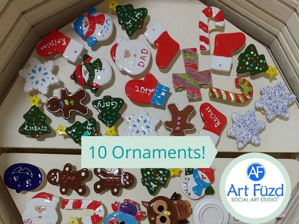 Holiday Ornaments Box ~ Includes Ten (10) Flat Ornaments (you choose!)