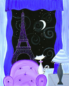 Kitty in Paris - 16 x 20