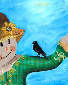Scarecrow and Friend - 16 x 20