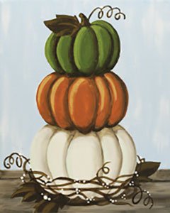 Stacked Pumpkins - 16 x 20