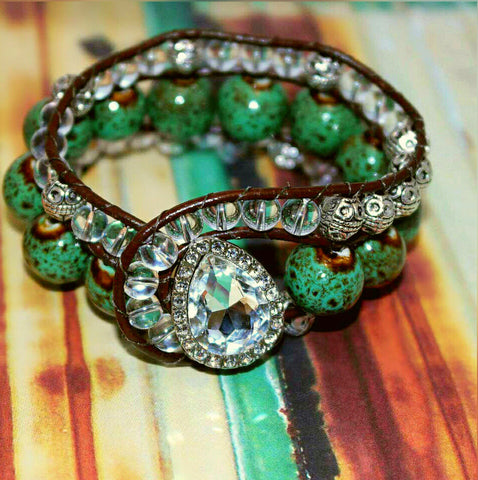 Island Dream Beaded Cuff - HaJuls - 2
