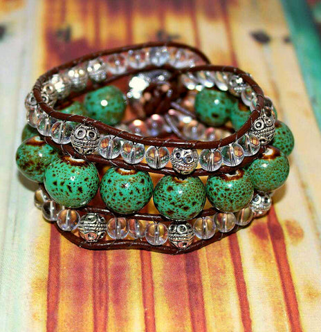 Island Dream Beaded Cuff - HaJuls - 3