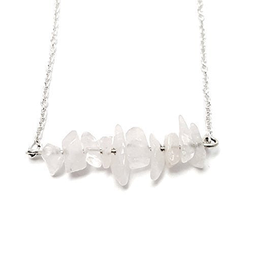 Quartz Chip Bar 925 Necklace