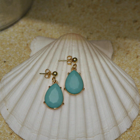 Faceted Stone Teardrop Earrings - HaJuls - 3