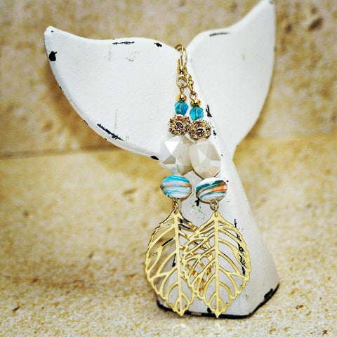 Beachy Dangling Leaf Earring - HaJuls - 1