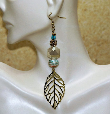 Beachy Dangling Leaf Earring - HaJuls - 3