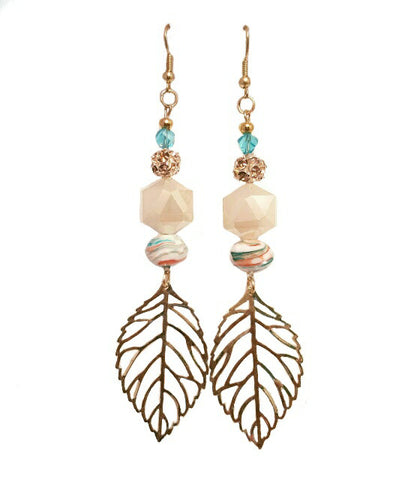 Beachy Dangling Leaf Earring - HaJuls - 2