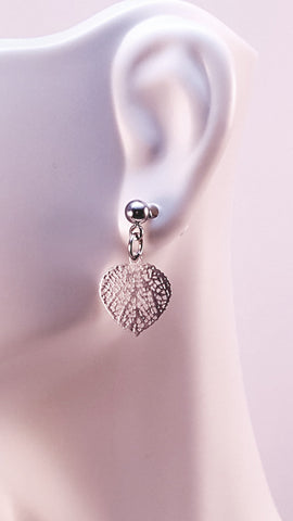 Silver Leaf Earrings and Necklace Set - HaJuls - 2