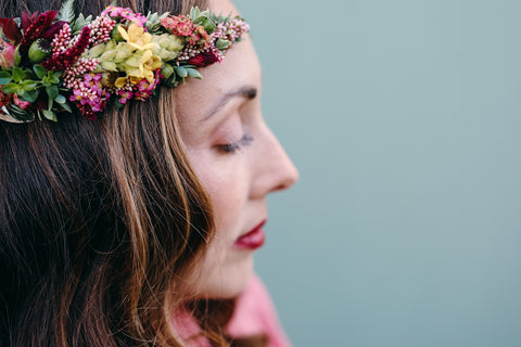 Crown of flowers by Rich Earth Designs, Photo by Christine Noel James