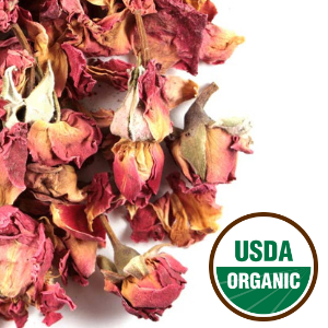 Organic Red Rose Buds And Petals