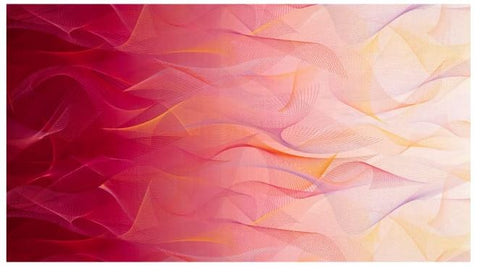 Reverie Digital Wisp Of Light Flamingo Fabric - Afterpay