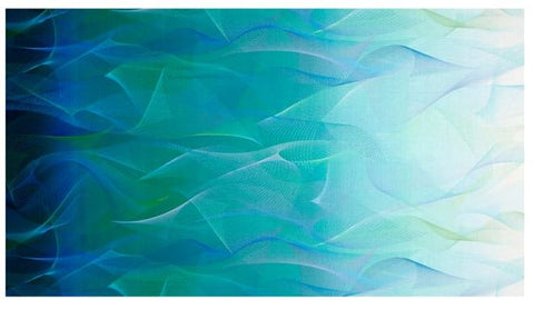 Reverie Digital Wisp Of Light Ocean Fabric - Afterpay