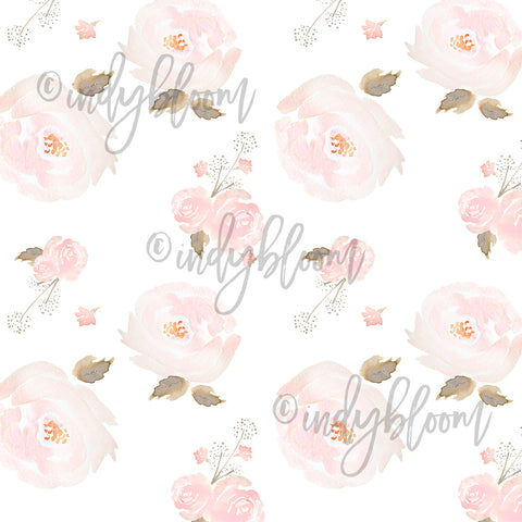 Watercolor Florals | Small Tossed Floral in Rose