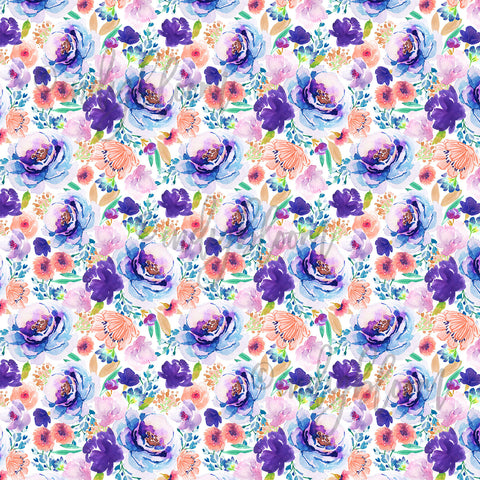 Watercolor Florals | Tiny Enchanted Bloom in Ultra Violet