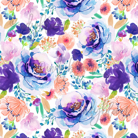 Watercolor Florals | Enchanted Bloom in Ultra Violet - afterpay