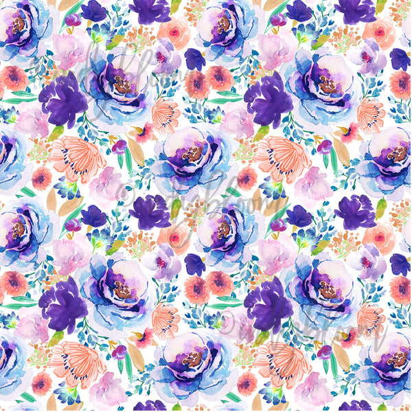 Watercolor Florals | Enchanted Bloom in Ultra Violet