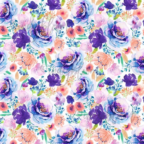 Watercolor Florals | Small Enchanted Bloom in Ultra Violet - afterpay