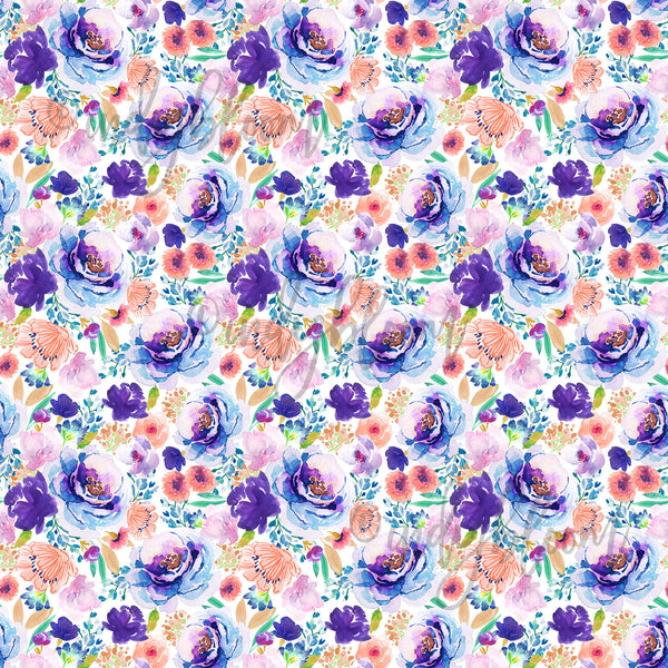 Watercolor Florals | Small Enchanted Bloom in Ultra Violet