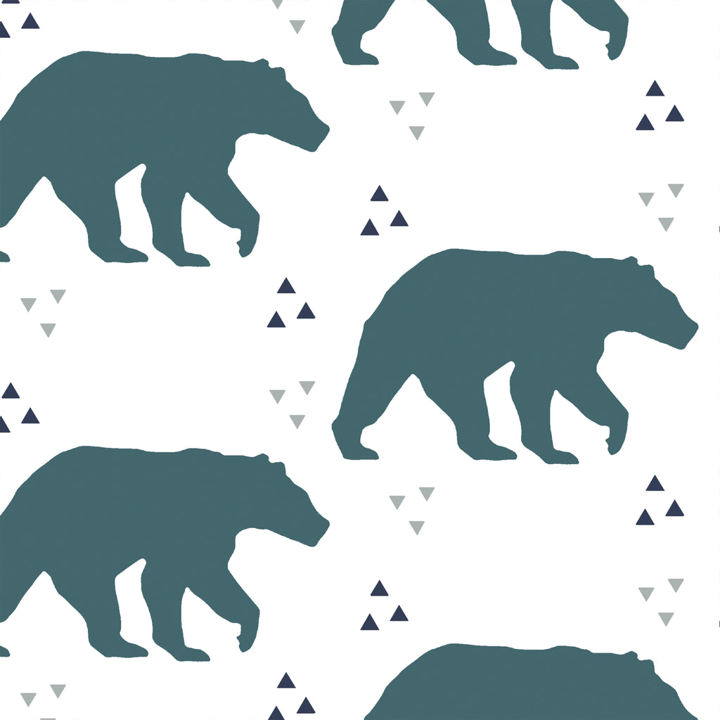 Timber | Bears in Teal - Hudson Design - Afterpay