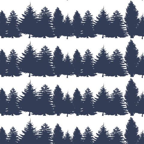 Timber | Tree Line in Navy - Hudson Design - Afterpay