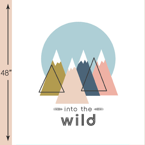 Bjorn Bear | Into the Wild Crib & Quilt Panels in Sommar - AfterPay