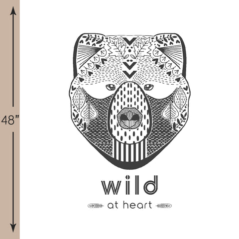 Bjorn Bear | Wild at Heart Crib & Quilt Panels in Onyx - AfterPay