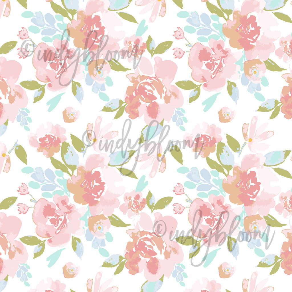 Watercolor Florals | Peony Floral in Morning - afterpay