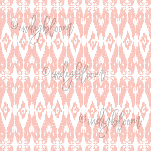 Tropical Summer | Ikat Parrot in Pink Sand