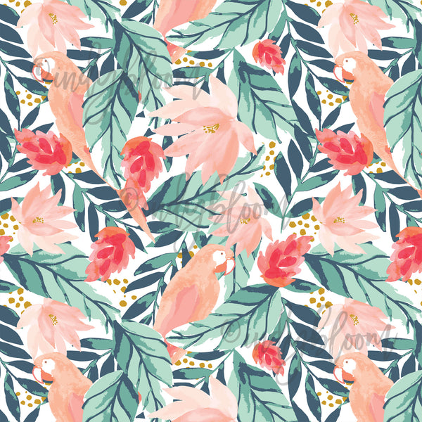 Tropical Summer | Large Bohemian Floral in Tropical