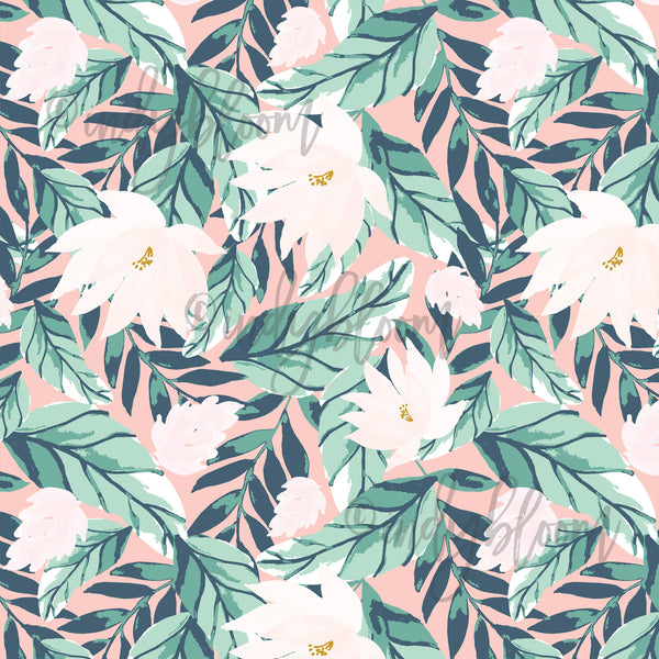 Tropical Summer | Large Summer Floral in Tropical