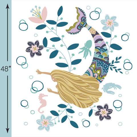 Siren Song | Mermaid Crib & Quilt Panels in Emma - AfterPay