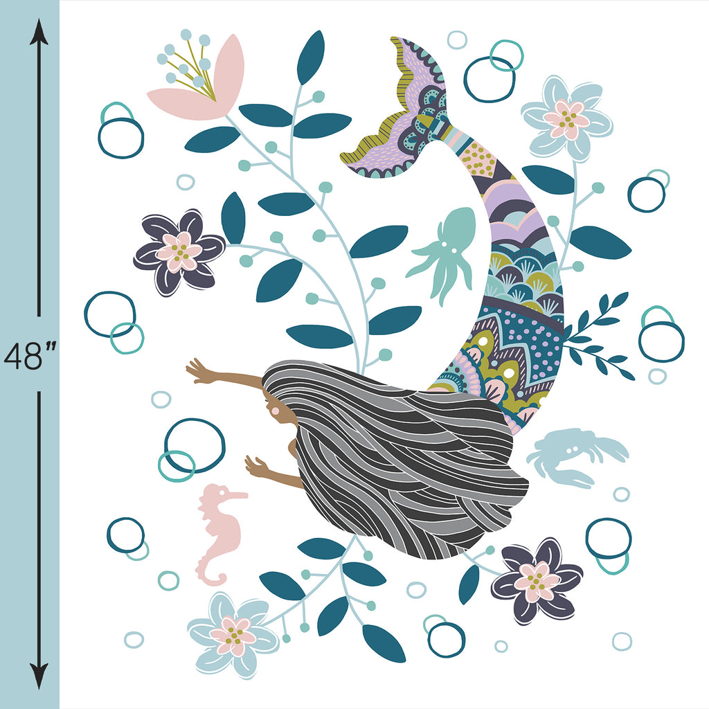 Siren Song | Mermaid Crib & Quilt Panels in Sophia - AfterPay