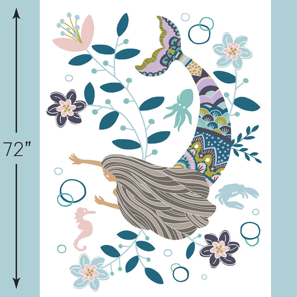 Siren Song | Mermaid Crib & Quilt Panels in Zoe - AfterPay
