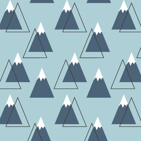 Bjorn Bear | Mountain Peaks in Powder Blue - Afterpay & Free Shipping AU