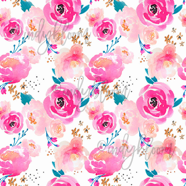 Watercolor Florals | Punchy Floral in Fuchsia