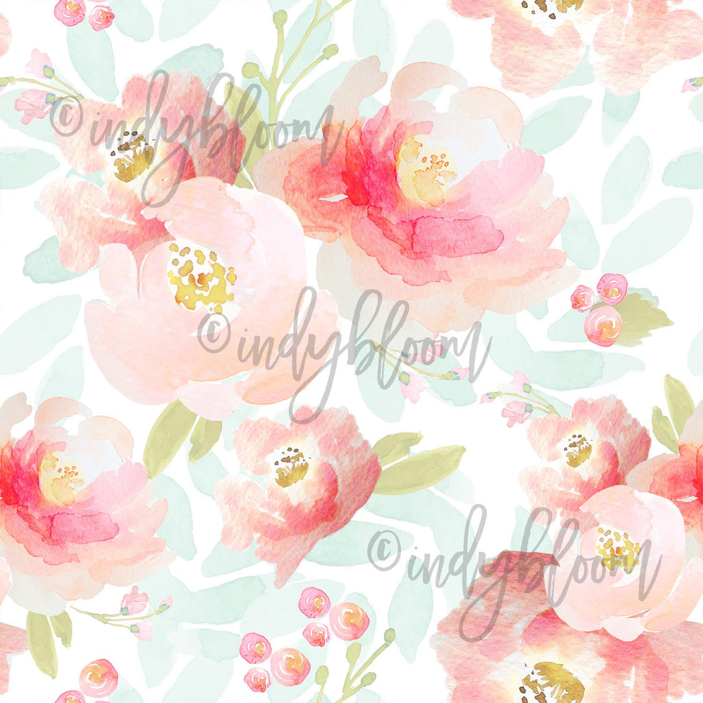 Watercolor Florals | Plush Floral in Sweet Pea - afterpay