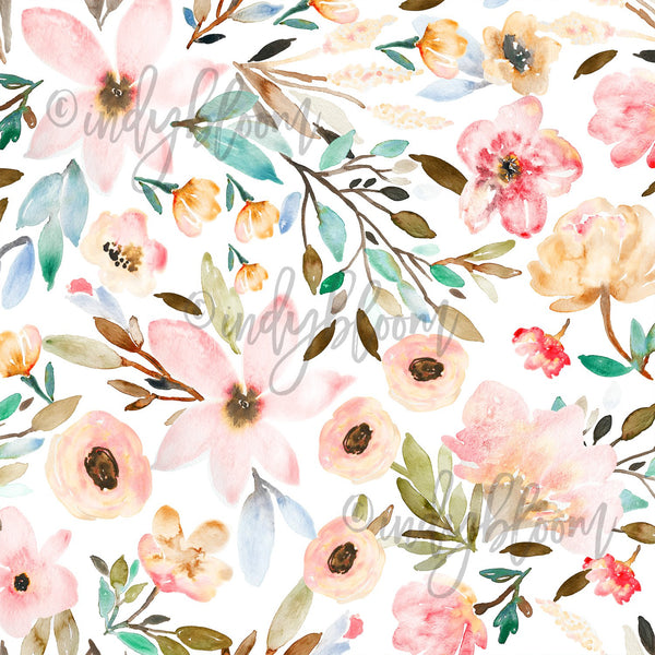Watercolor Florals | Mae Floral in Garden - afterpay