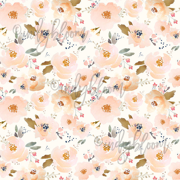 Watercolor Florals | Blossoming Floral in Peachy
