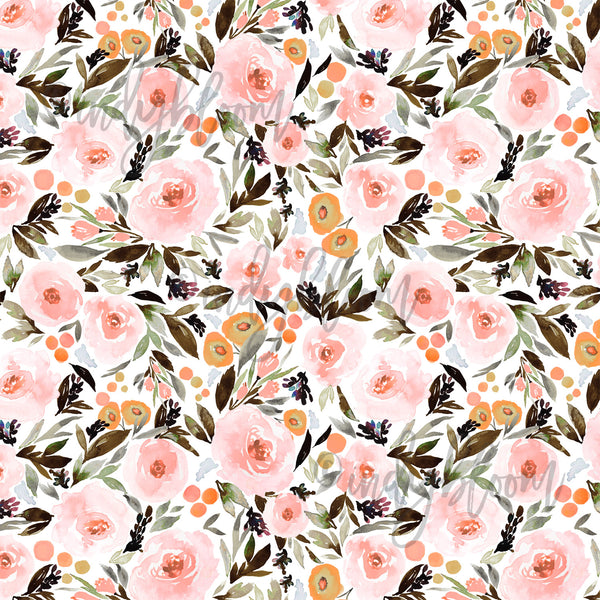 Watercolor Florals | Berry Blossom in Blush - AfterPay & Free Shipping AU