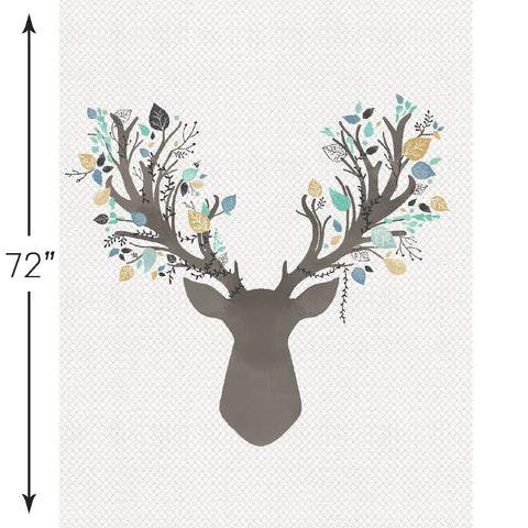 Fawn | Stag Crib & Quilt Panels in Aspen - Hawthorne Threads Digital Fabrics - Afterpay