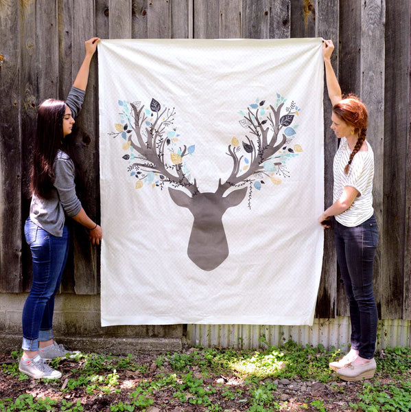 Fawn | Stag Crib & Quilt Panels in Aspen