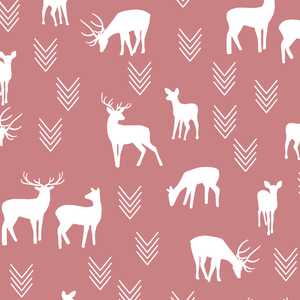 Hawthorne Threads - Deer Silhouette - Deer Silhouette in Berry