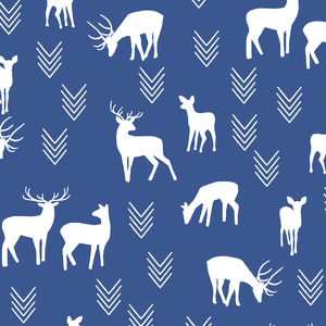 Hawthorne Threads - Deer Silhouette - Deer Silhouette in Blue Jay