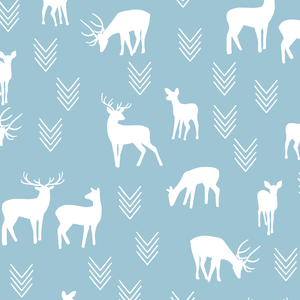 Hawthorne Threads - Deer Silhouette - Deer Silhouette in Bluebell