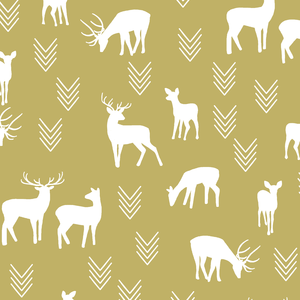 Hawthorne Threads - Deer Silhouette - Deer Silhouette in Brass