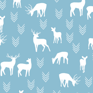 Hawthorne Threads - Deer Silhouette - Deer Silhouette in Breeze