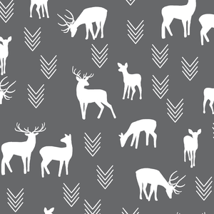 Hawthorne Threads - Deer Silhouette - Deer Silhouette in Charcoal