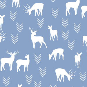 Hawthorne Threads - Deer Silhouette - Deer Silhouette in Cornflower