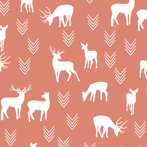 Hawthorne Threads - Deer Silhouette - Deer Silhouette in Desert Rose