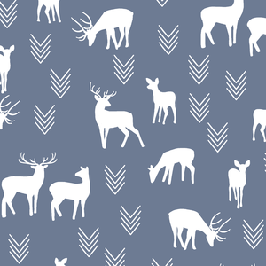 Hawthorne Threads - Deer Silhouette - Deer Silhouette in Dove